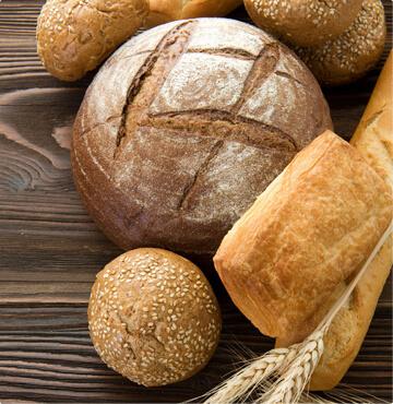 Хлеб, багеты, булочки, лепешки, караваи, пампушечки, пита, плетенки, чиабатта